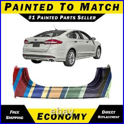 NEW Painted To Match- Rear Bumper Cover For 2013-2018 Ford Fusion With Park Assist