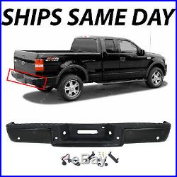NEW Primered Complete Rear Steel Bumper for 2004 2005 Ford F150 With Park Assist