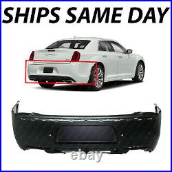 NEW Primered Rear Bumper Cover Fascia for 2015-2020 Chrysler 300 with Park Assist