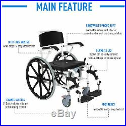 Personal Mobility Assist Medical Wheelchair Waterproof Commode Shower Chair