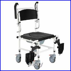 Personal Mobility Assist Waterproof Commode Wheelchair Toilet Shower Chair