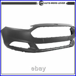 Primed Front Bumper Cover For 2013-2015 2016 Ford Fusion Witho Park Sensor Hole