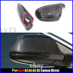 Replacement For Audi A4 B8 A5 S5 A6 Q3 Carbon Fiber Mirror Cover With Side Assist