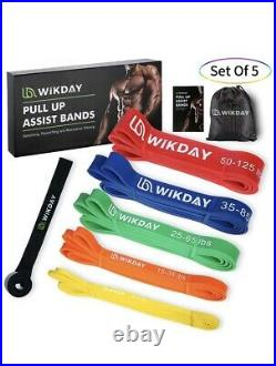 Resistance Bands, up to 125Ib, Pull Up Assist Bands, 5 Pcs Workout Bands Exercise