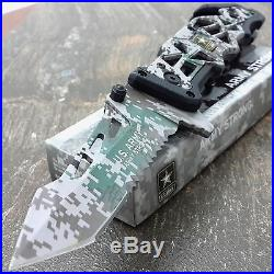 Spring Assisted Knife US Army Camo Tactical Blade