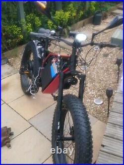 Stealth Bomber Mountain E-bike Electric Bicycle with pedal assist 72v 3000w