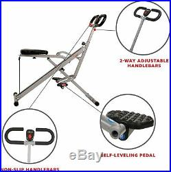 Sunny Health Fitness Squat Assist Exercise Glutes Workout Rowing Machine Arm Leg