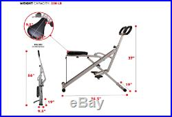 Sunny Health and Fitness Upright Squat Assist Row-N-Ride Trainer for Squat Exerc