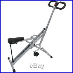 Sunny Health and Fitness Upright Squat Assist Row-N-Ride Trainer withCooling Towel