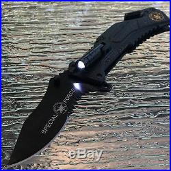 TAC FORCE SPECIAL FORCE SPRING ASSISTED OPEN TACTICALw LED RESCUE POCKET KNIFE