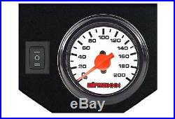 Tow Assist Control In Cab Air Height Control Electric Switch Kit & White Gauge