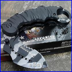 USMC MARINES TACTICAL KARAMBIT CAMO KNIFE Spring Assisted Opening Pocket Knives