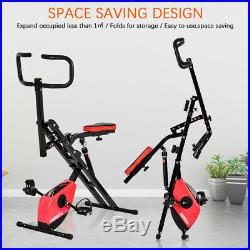 Upright Squat Assist Row-N-Ride Stationary Bike Riding Machine Foldable Bicycle