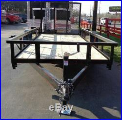 Utility Trailer 5' x 12' with Tall Spring Assist A-Frame Gate & Spare Tire Holder